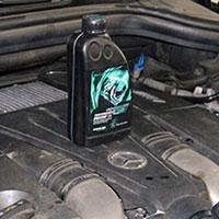 Замена моторного масла в Мерседес